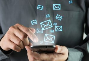 Sending email on phone